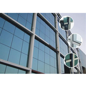 China exposed aluminium frame glass curtain wall pinglu for Aluminium window frame manufacturers