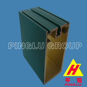 Powder Coating Aluminium Curtain Wall Profile