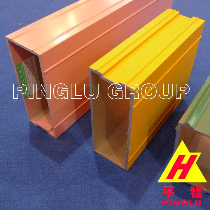 Powder Coated Aluminum Extrusion Profile, T4, T5, T6 - Pinglu